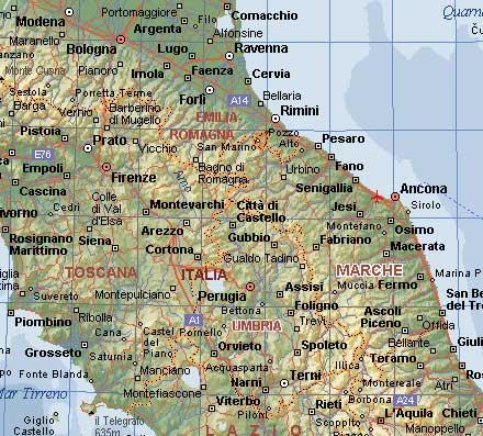 Cartina Marche Umbria.Viaggio Marche Umbria